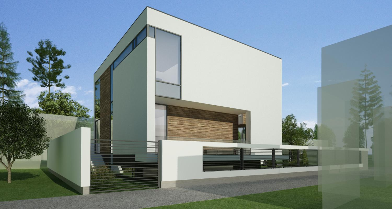 Locuinta Unifamiliala Moderna in Bucuresti, Sect 1 | Concept Design finalizat casa moderna demisol, parter si etaj cod NCB in Bucuresti, Sect 1 | Proiect din portofoliul CUB Architecture