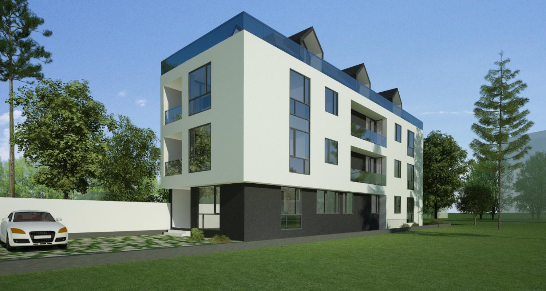 Proiect Imobil Rezidential Neatarnarii, Bucuresti, S 1 | Concept design bloc de locuinte modern cu 8 de apartamente cod RELN in Bucuresti, S1 | Proiect din portofoliul CUB Architecture
