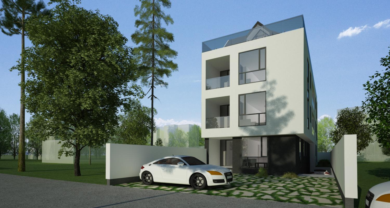 Proiect Imobil Rezidential Neatarnarii, Bucuresti, Sector 1 | Concept design Finalizat bloc de locuinte modern cu 8 de apartamente cod RELN in Bucuresti, Sector 1 | Proiect din portofoliul CUB Architecture