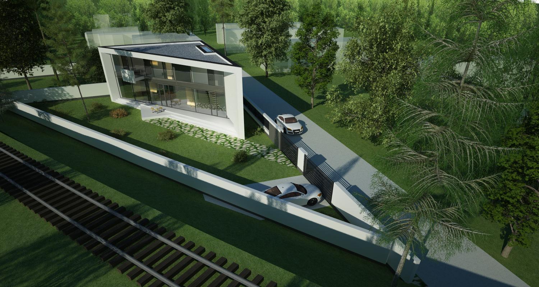 Locuinta Moderna Parter si etaj   Concept Design casa parter si etaj pe teren triunghiular cod MIN, Mogosoaia, if