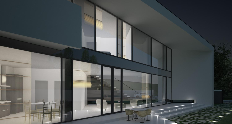 Locuinta Moderna Parter si etaj   Concept Design casa pe teren triunghiular cod MIN, Mogosoaia, if