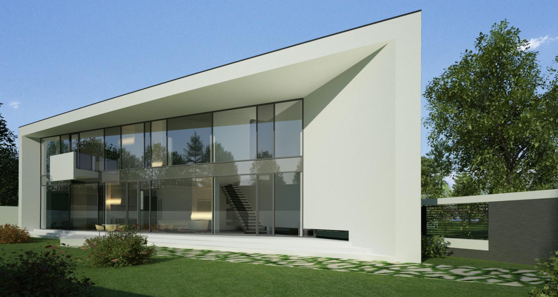 Proiect Locuinta Moderna Parter si etaj   Concept Design casa parter pe teren triunghiular cod MIN, Mogosoaia, Ilfov
