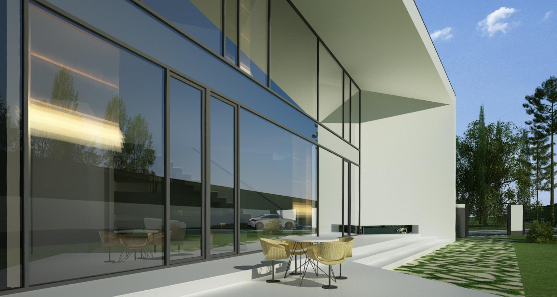 Proiect Locuinta Moderna Parter si etaj   Concept Design casa parter si etaj pe teren triunghiular cod MIN, Mogosoaia, if
