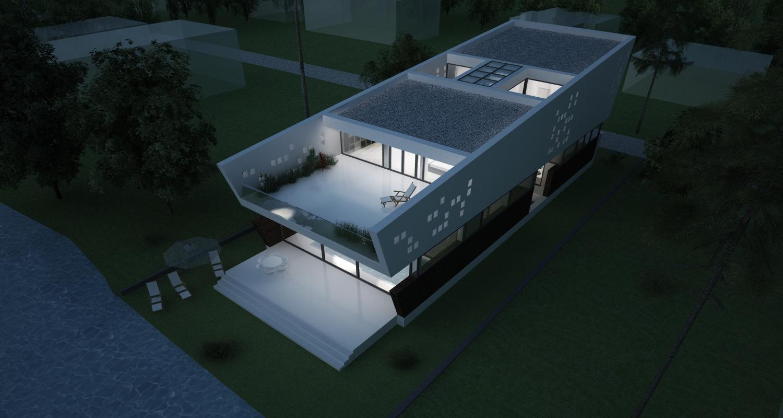 Locuinta Moderna pe malul lacului   Concept Design finalizat casa pe malul lacului si piscina   cod LTO in Ovidiu, CT   proiect din portofoliul CUB Architecture