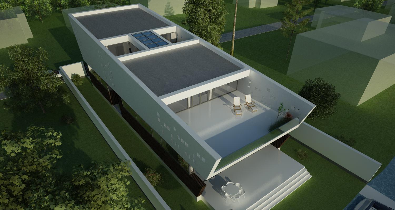 Locuinta Moderna pe malul lacului   Concept Design finalizat casa pe malul lacului si piscina   cod LTO in Ovidiu   proiect din portofoliul CUB Architecture