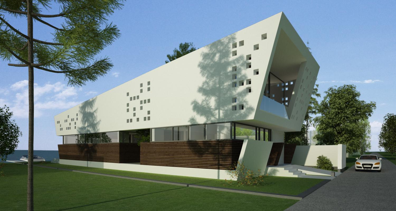 Locuinta Moderna pe malul lacului, CT   Concept Design finalizat casa moderna pe malul lacului si piscina   cod LTO in Ovidiu, CT   proiect din portofoliul CUB Architecture