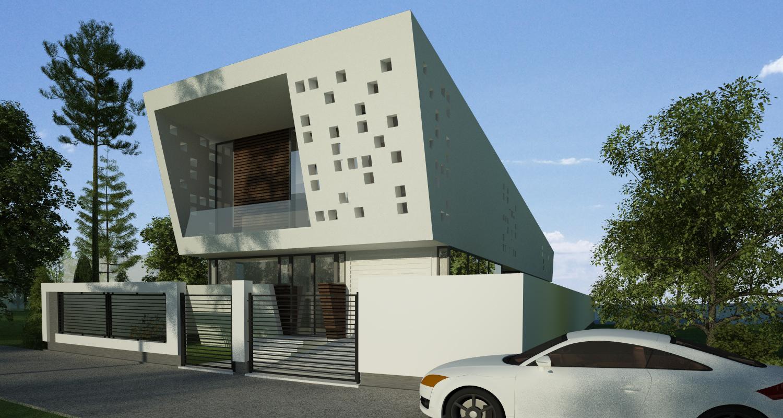 Locuinta Moderna pe malul lacului, Ovidiu, CT   Concept Design finalizat casa moderna pe malul lacului si piscina   cod LTO in Ovidiu, CT   proiect din portofoliul CUB Architecture