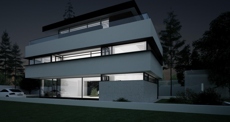 Locuinta Unifamiliala Minimalista in Sectorul 5 | Concept Design finalizat locuinta moderna minimalista, parter si doua etaje cod NGG in Bucuresti | Proiect din portofoliul CUB Architecture