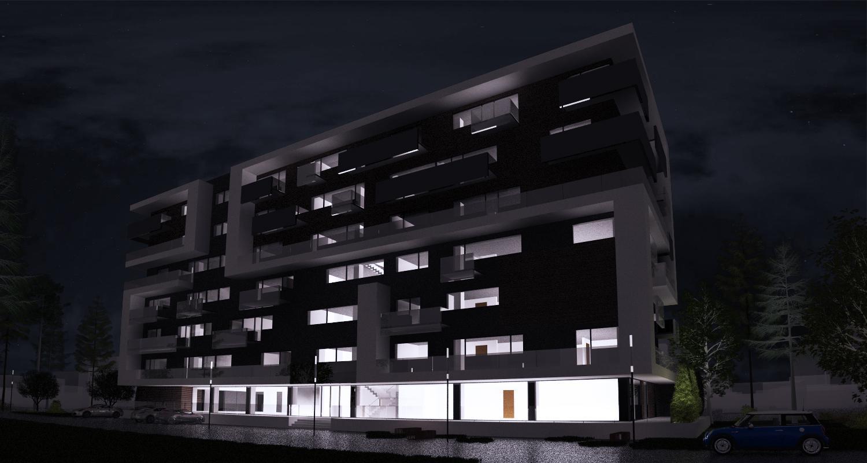Imobil rezidential cu apartamente de 2 si 3 camere, zona Berceni, Bucuresti, S4   Concept Design bloc de locuinte modern cu apartamente - demisol parter si 6 etaje cod BRAN in Bucuresti, Sector 4   Proiect din portofoliul CUB Architecture