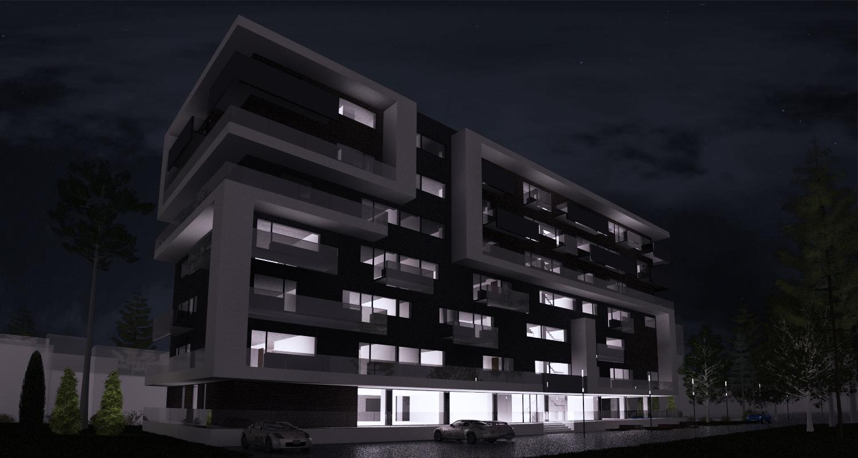 Imobil rezidential cu apartamente de 2 si 3 camere, zona Berceni, Bucuresti, Sector 4   Concept Design bloc de locuinte modern cu apartamente de 2 si 3 camere - demisol parter si 6 etaje cod BRAN in Bucuresti, Sector 4   Proiect din portofoliul CUB Archit