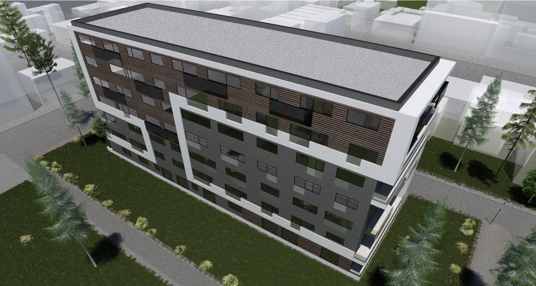 Imobil rezidential cu apartamente de 2 si 3 camere, zona Berceni, Bucuresti, Sector 4   Concept Design imobil bloc de locuinte cu apartamente de 2 si 3 camere - demisol parter comercial si 6 etaje cod BRAN in Bucuresti, Sect 4   Proiect din portofoliul