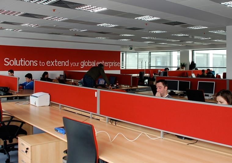 Amenajare Spatiu Birouri Lucrare Finalizata office planning Computer Generated Solutions Romania in Sema Park Bucuresti