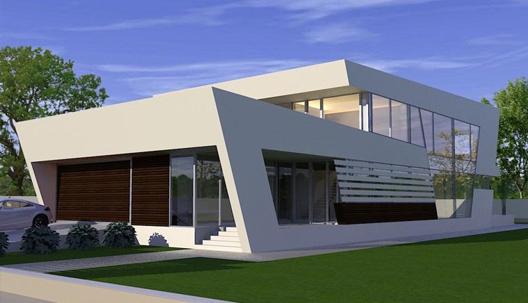 Proiecte Locuinte moderne avantgardiste   Proiectare finalizata casa cod CFP Pitesti, Arges - proiect din portofoliul CUB Architecture