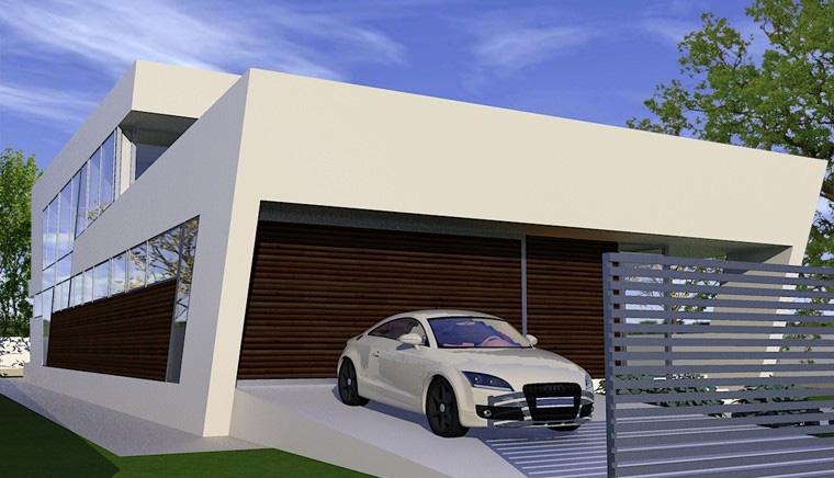 Proiecte Locuinte moderne avantgardiste   Proiectare finalizata casa moderna cod CFP Pitesti, Arges - proiect din portofoliul CUB Architecture