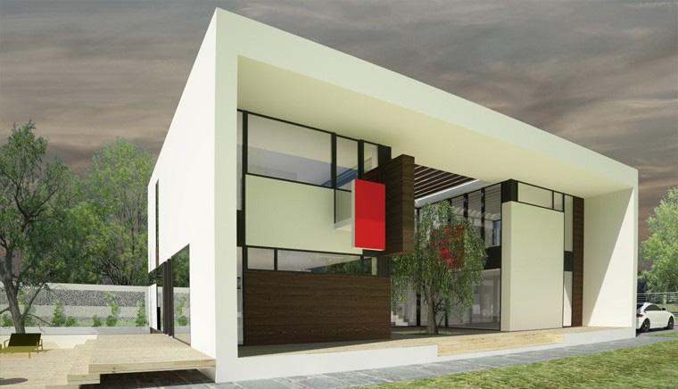 Proiect Locuinta Moderna minimalista cu Atrium deschis pe doua nivele casa moderna cod CAA in Alexandria TR