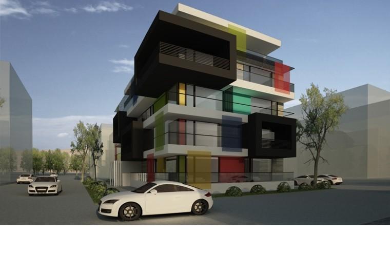 Proiect Imobil Rezidential cu 17 Apartamente Voluntari bloc de locuinte modern cod IROL in Voluntar