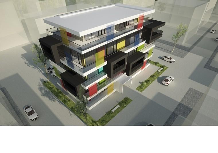 Proiect Imobil Rezidential cu 17 Apartamente Voluntari bloc de locuinte modern cu 17 apartamente cod IROL in Voluntari