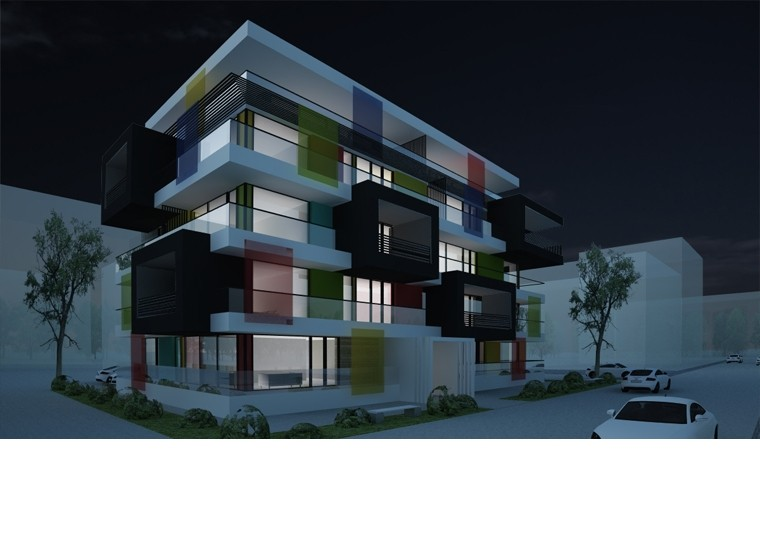 Proiect Imobil Rezidential cu 17 Apartamente Voluntari bloc modern cod IROL in Voluntari