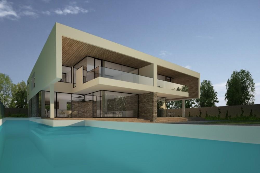 Proiect Duplex modern Proiectare finalizata casa moderna cod GDP in Pantelimon, Ilfov - proiect din portofoliul CUB Architecture