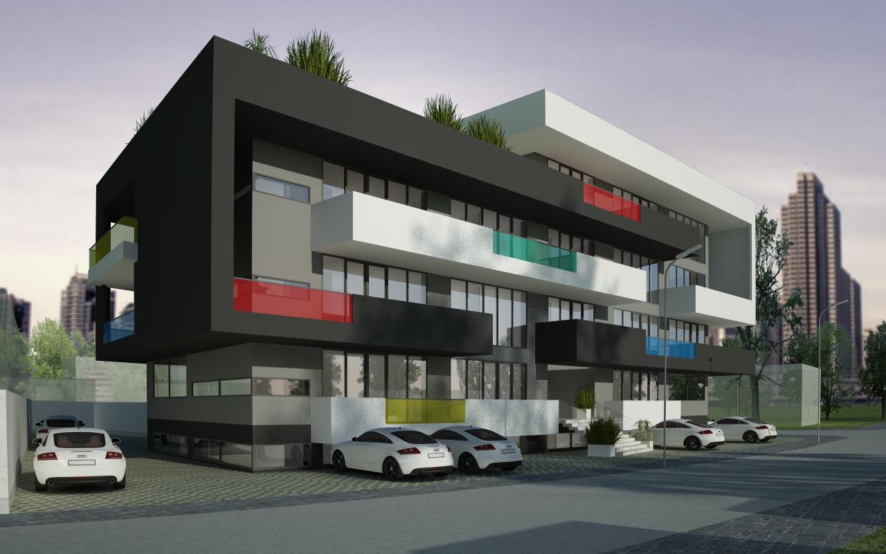 Proiect Imobil Rezidential cu 31 de Apartamente Bucuresti bloc de locuinte modern cu 31 de apartamente cod AUSL in Bucuresti, Sector 1
