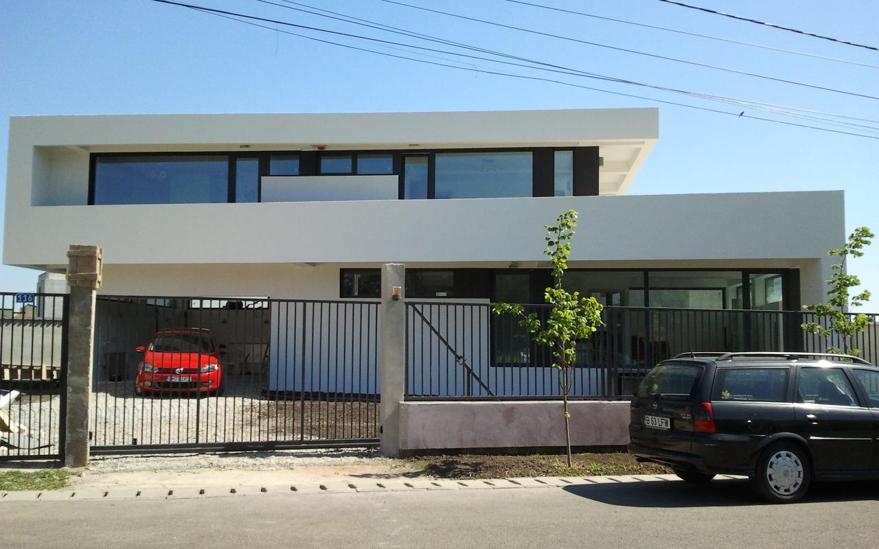 Case moderne Contemporane Lucrare finalizata casa moderna cod AMC Fin in Corbeanca portofoliul cub architecture
