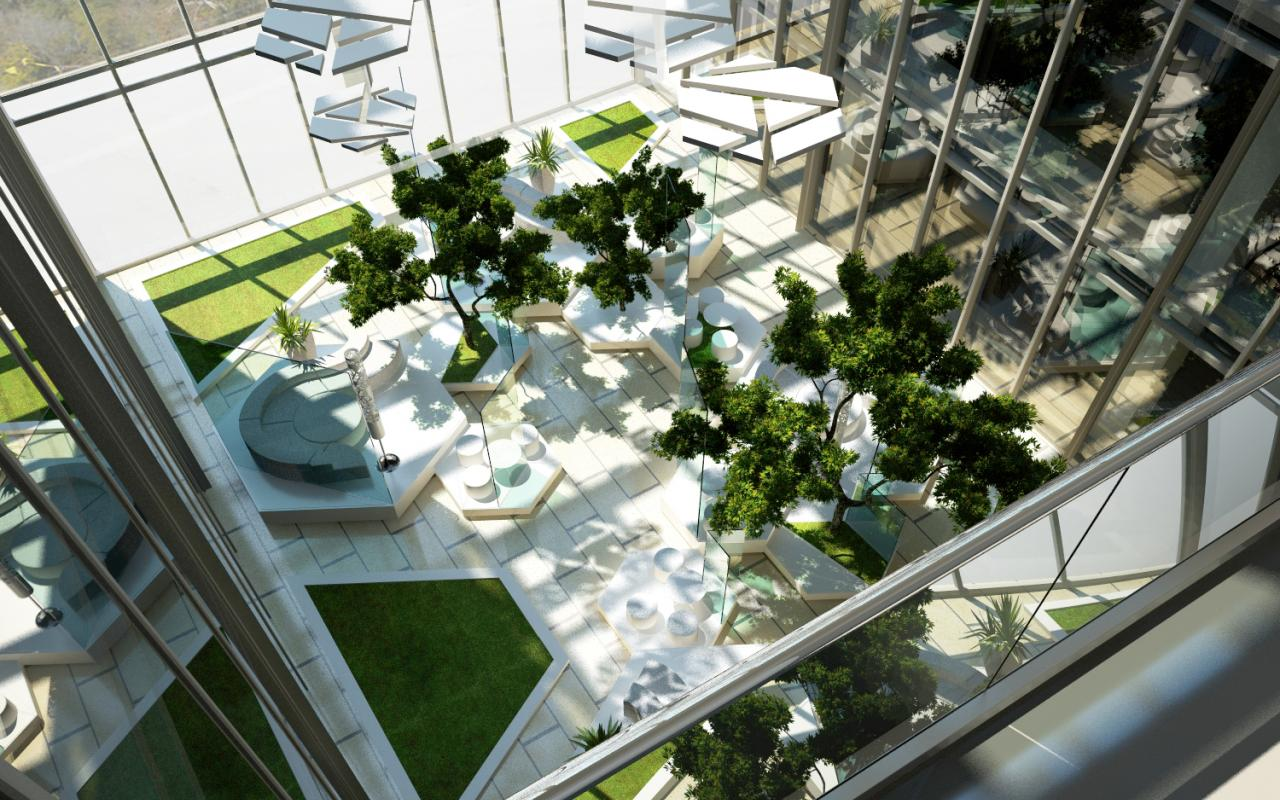 Proiect Atrium Floreasca Park | Concept Design in cadrul Oracle Romania in Floreasca Park, Sos. Pipera-Tunari, Bucuresti cod ATRI | Lucrare din portofoliul CUB Architecture