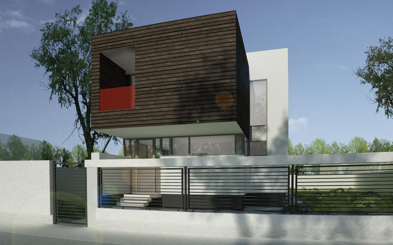 Proiect Locuinta Moderna placata cu Lemn casa moderna cod RLS in Saftica Ilfov