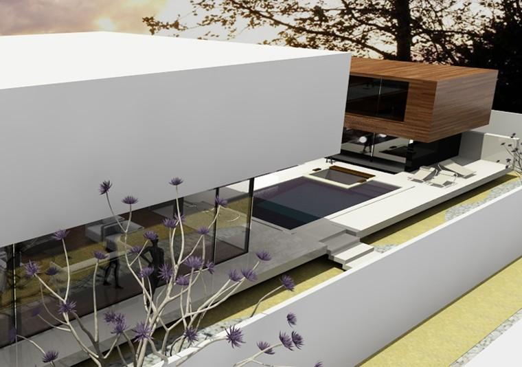 proiect casa moderna cu piscina cod AFV Voluntari Ilfov