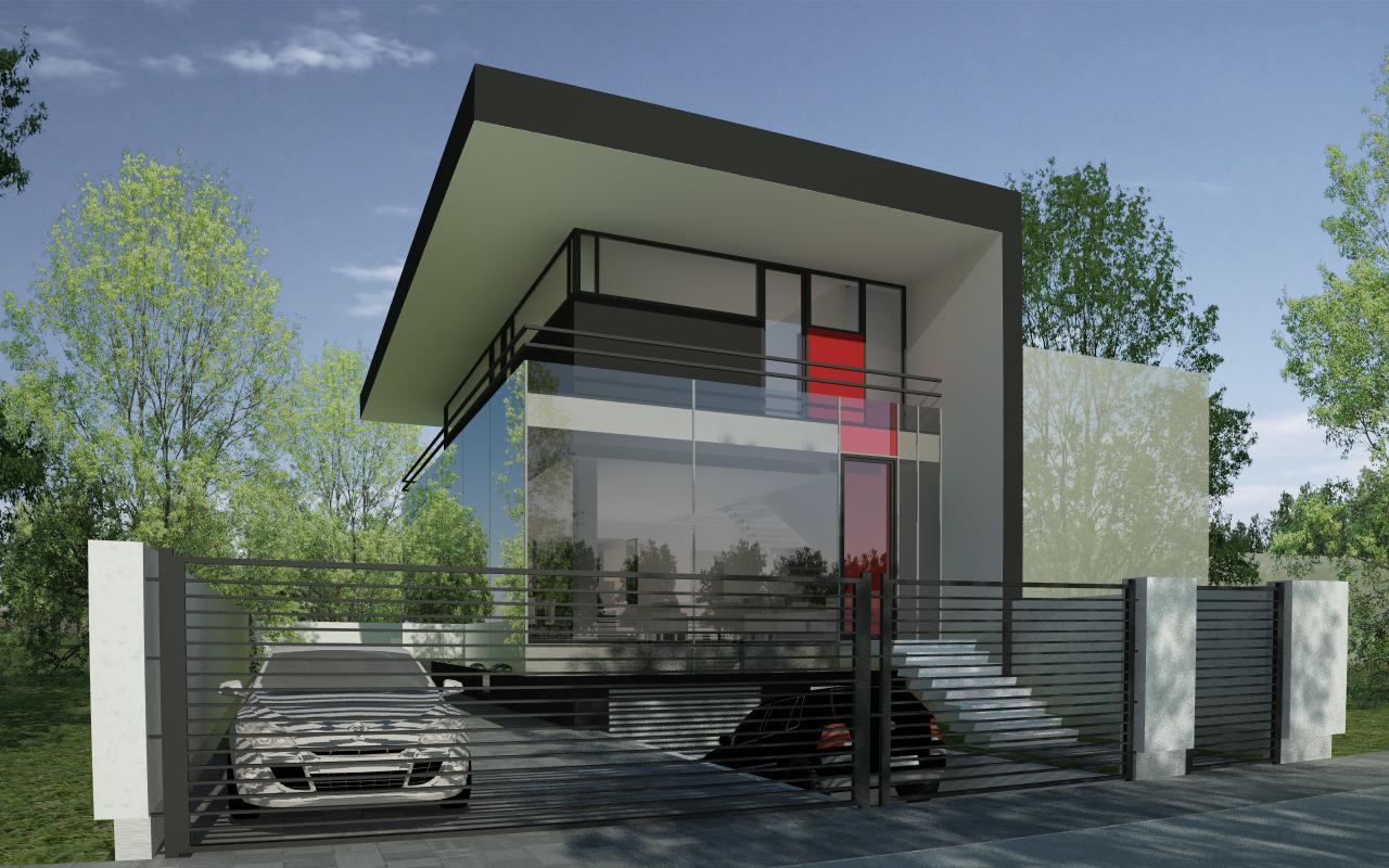 Proiect Locuinta Urbana Moderna casa moderna urbana pe limita de proprietate cod FACT Bucuresti Sector 6