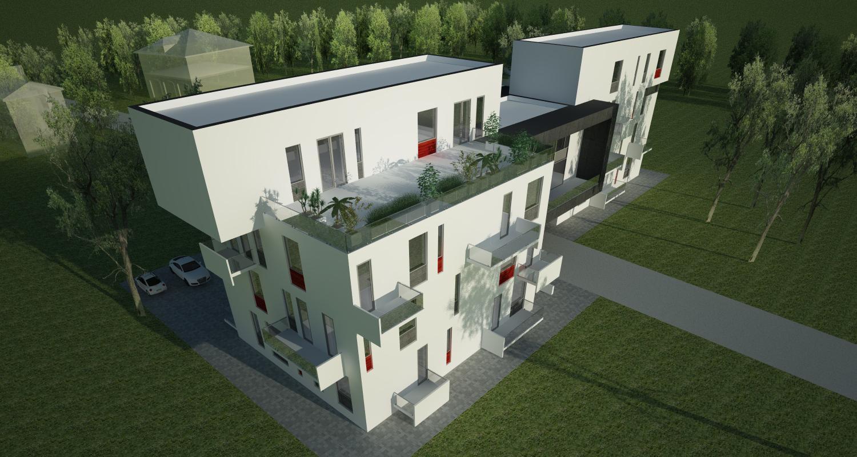 Proiect Imobil Rezidential cu 12 + 1 Apartamente bloc de locuinte modern cod SBBG in Galati