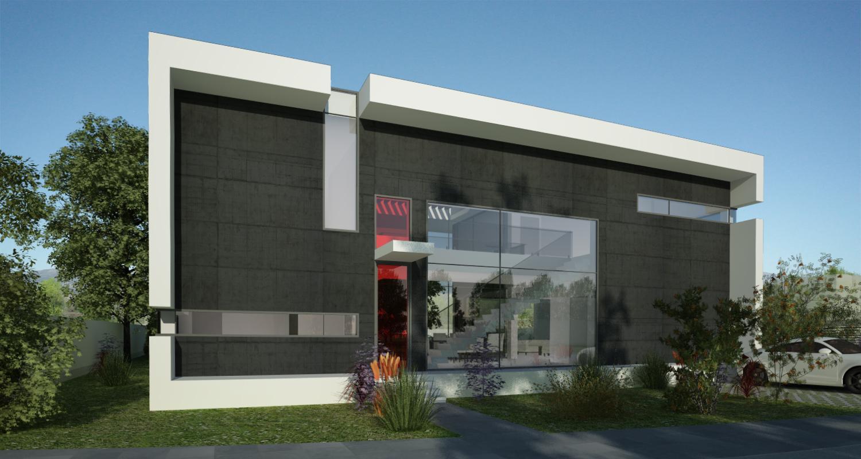 Proiect Locuinta Moderna cu Atrium Partial casa moderna cod ICR in Chiajna Ilfov