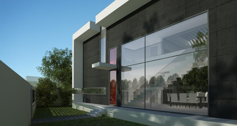 Proiect Locuinta Moderna cu Atrium Partial cod ICR in Chiajna Ilfov