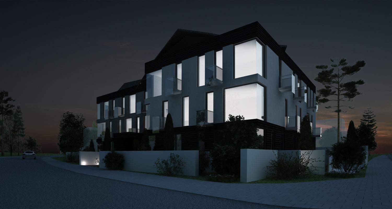 Proiect Imobil Rezidential Modern cu 18 apartamente de vanzare | Concept Design bloc de locuinte modern cod ADHU in Bucuresti | Proiect din portofoliul CUB Architecture