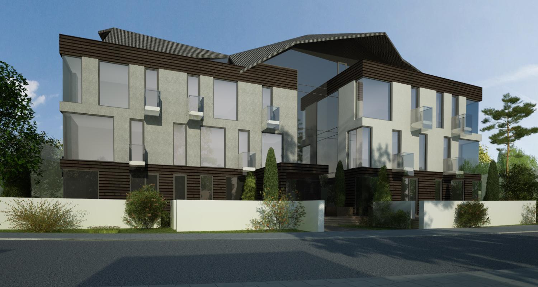 Proiect Imobil Rezidential Modern cu 18 unitati de locuit Bucuresti | Concept Design bloc de locuinte modern cu 18 apartamente cod ADHU in Bucuresti | Proiect din portofoliul CUB Architecture