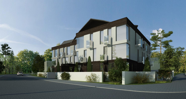 Proiect Imobil Rezidential Modern cu 18 unitati de locuit Bucuresti | Concept Design bloc de locuinte modern cu 18 apartamente cod ADHU in Bucuresti, Sector 1 | Proiect din portofoliul CUB Architecture