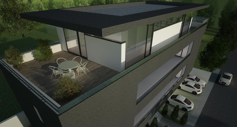 Proiect Imobil Rezidential Apartamente Bucuresti | Concept Design bloc de locuinte modern cu 7 apartamente cod RBAB in Bucuresti, Sector 3 | Proiect din portofoliul CUB Architecture