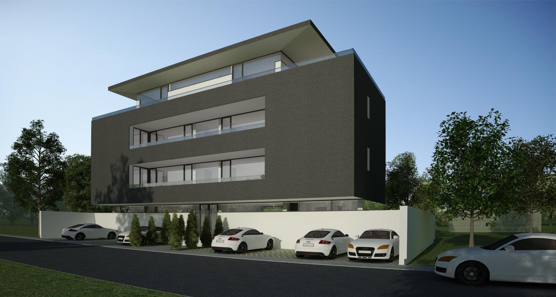 Proiect Imobil Rezidential cu 7 Apartamente Bucuresti | Concept Design bloc de locuinte modern cu 7 apartamente cod RBAB in Bucuresti, Sector 3 | Proiect din portofoliul CUB Architecture