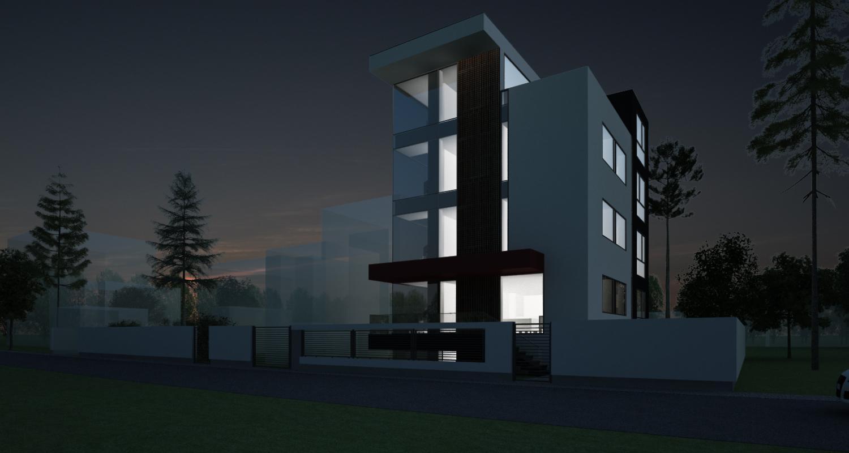 Proiect Pensiune Urbana cu 10 camere in Otopeni, Ilfov | Proiectare Finalizata pensiune cu 10 cemere in otopeni cod BCOP | Proiect din portofoliul CUB Architecture
