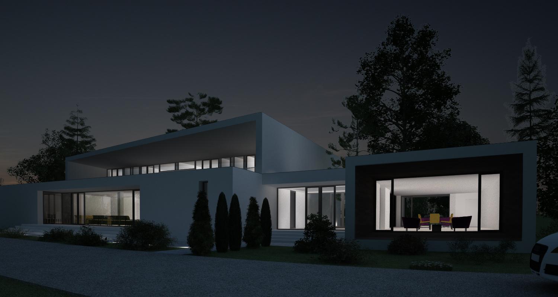 Proiect Casa Bifamiliala in Erbil, Irak   Concept Design casa moderna cod KNI in Erbil, Irak   Proiect din portofoliul CUB Architecture