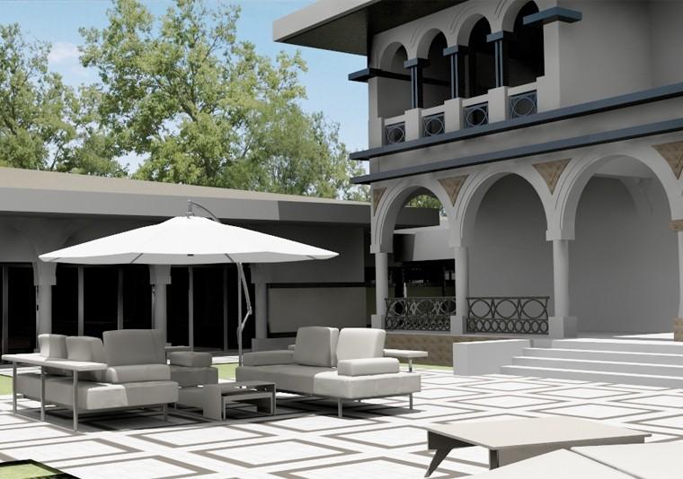 Proiect Imobil Neoromanesc Modern si Piscina Exterioara stilizata cod ATS Slobozia Ialomita