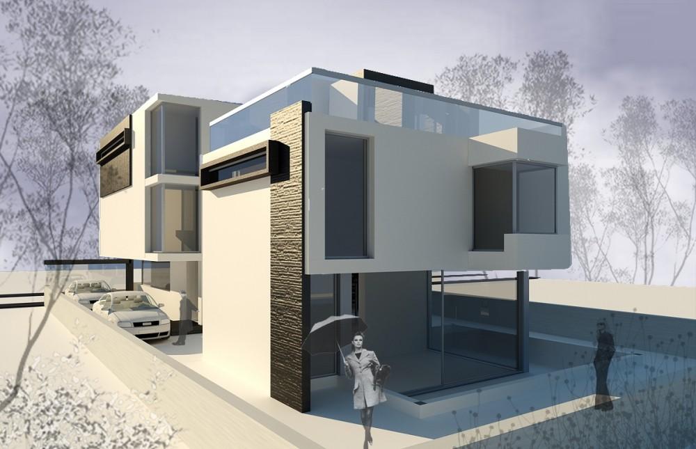 Proiect Locuinta Unifamiliala cu 2 nivele casa moderna cod EMP in Bucuresti Sector 6