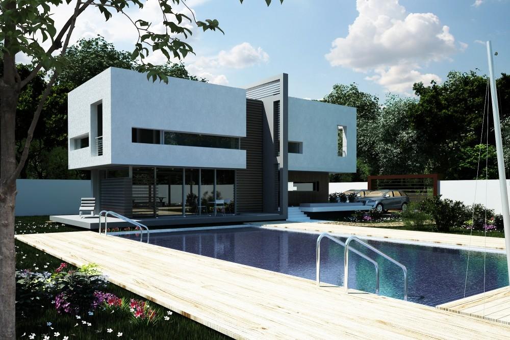Proiect Locuinta Unifamiliala Moderna casa moderna si piscina cod VBV Vaslui VS