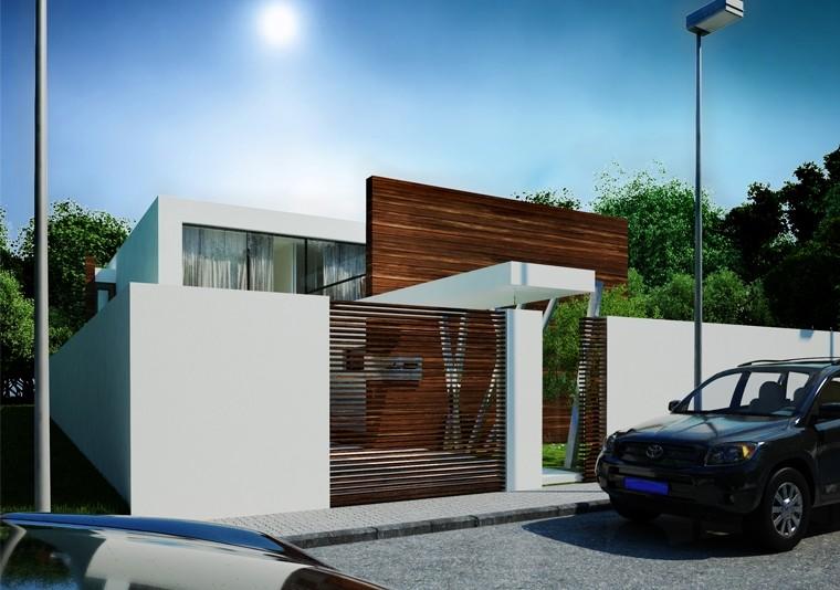 Proiect Locuinta Moderna pentru doua familii casa moderna cod DCT Domnesti Ilfov